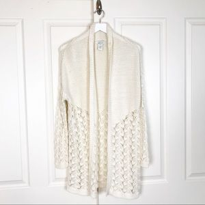 Sundance Ingrid Open Knit Cardigan Cream